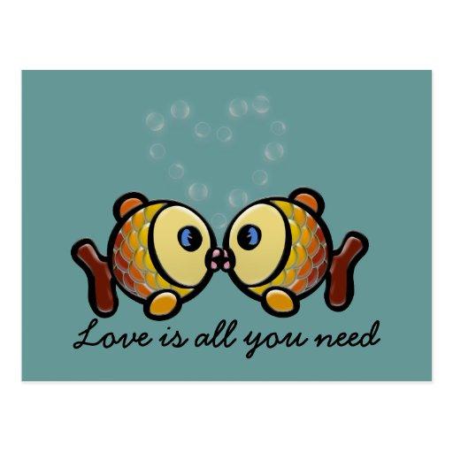 Liebe ist alle, die Sie benötigen Postkarten
