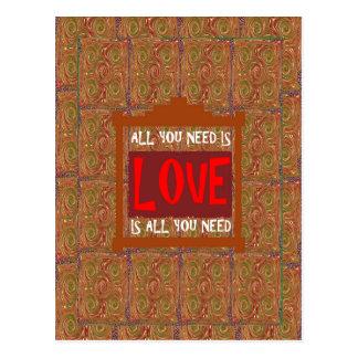 Liebe ist ALLE die Sie - Postkarte