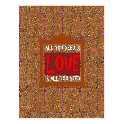 Liebe ist ALLE, die Sie - Postkarte