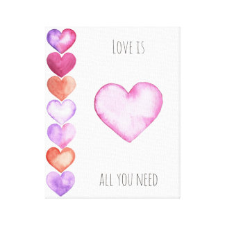 Liebe ist alle, die Sie - Wand-Druck-Kunst Leinwanddruck
