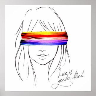 Liebe ist das blinde Geschlecht Posterdruck