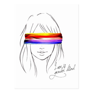 Liebe ist das blinde Geschlecht Postkarte