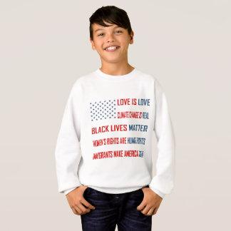 Liebe ist das Sweatshirt des Liebe-Jungen