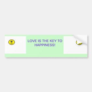 Liebe ist der Schlüssel zum Glück Autoaufkleber