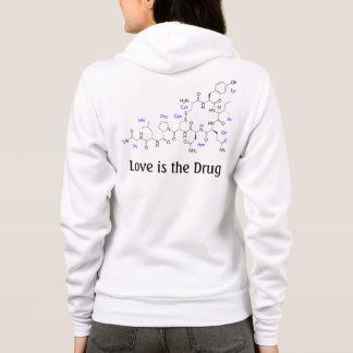 Liebe ist die Droge - Oxytocin-Molekül Hoodie