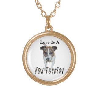 Liebe ist ein Fox-Terrier, golden Vergoldete Kette