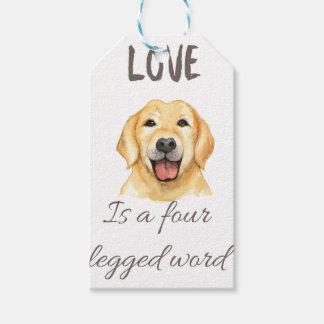 Liebe ist ein mit Beinen versehenes Wort vier Geschenkanhänger