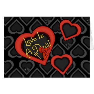 Liebe ist ein Teufel-Gemisch Karte