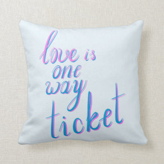 Liebe ist eine Weisenkarte Kissen