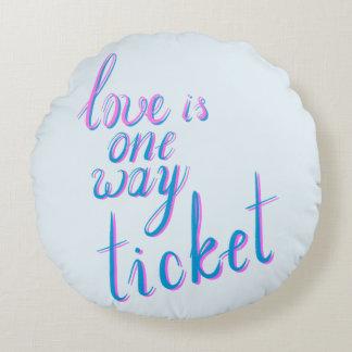 Liebe ist eine Weisenkarte Rundes Kissen