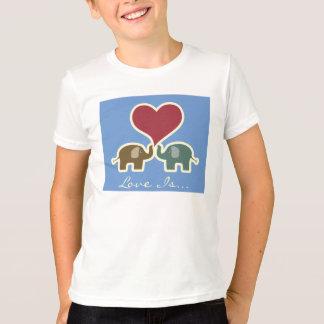 Liebe ist. Elefantt-stück T-Shirt