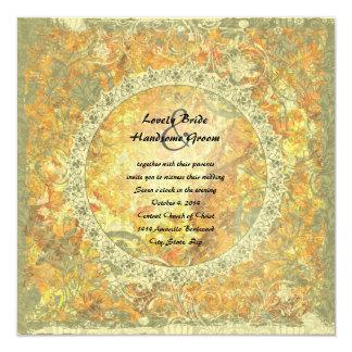 Liebe ist Flammen-Gedicht-Herbst-Feuer-Hochzeit Quadratische 13,3 Cm Einladungskarte