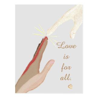 Liebe ist für alle geistige universelle postkarte