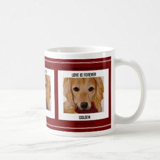 Liebe ist für immer golden kaffeetasse