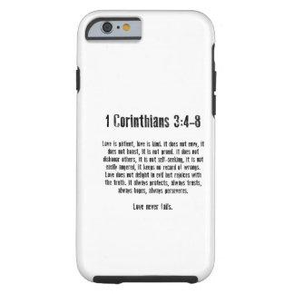 Liebe ist geduldig tough iPhone 6 hülle
