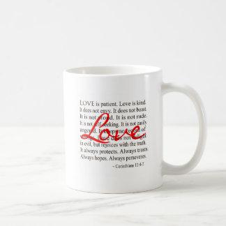 Liebe ist geduldig, Liebe ist nett Tasse