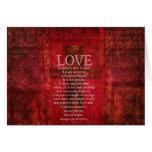 Liebe ist geduldige Liebe ist netter Bibel-Vers Karte