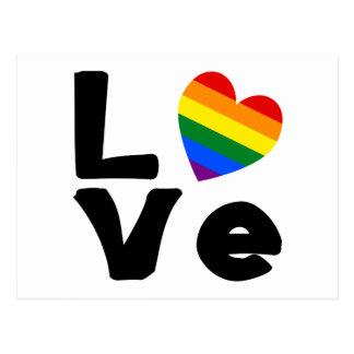 Liebe ist homosexuell postkarte