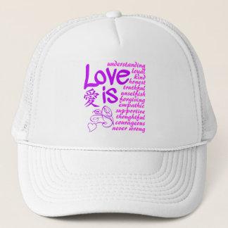 Liebe ist… Hut - wählen Sie Farbe Truckerkappe