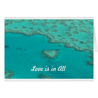Liebe ist in allen karte