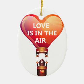 Liebe ist in der Luft-Ballon-Verzierung Keramik Ornament