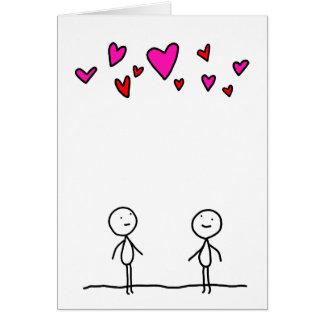 Liebe ist in der Luft für zwei Karte