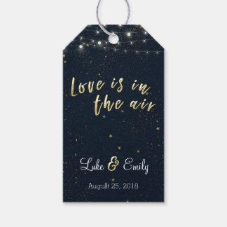 Liebe ist in der Luft-Gastgeschenk Hochzeit Geschenkanhänger