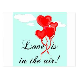 Liebe ist in der Luft! Postkarte