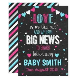 Liebe ist in der Luft-Schwangerschafts-Mitteilung Karte