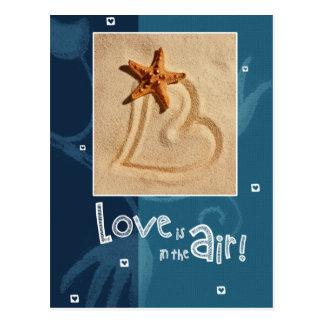 Liebe ist in der Luft. Valentinstag-Postkarten Postkarte
