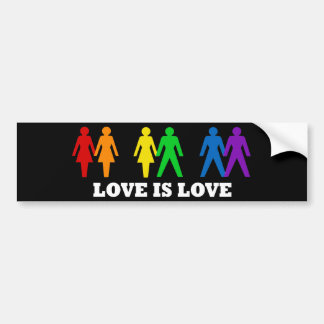 Liebe ist Liebe Autoaufkleber