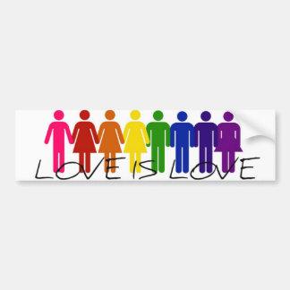 Liebe ist Liebe-Autoaufkleber