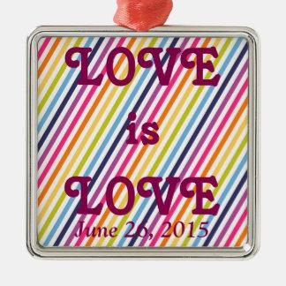 LIEBE ist LIEBE Heirat-Gleichheit Silbernes Ornament