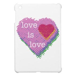 Liebe ist Liebe-Herz iPad Minifall iPad Mini Hülle