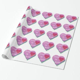 Liebe ist Liebe-Herz-Verpackungs-Papier Geschenkpapier