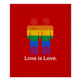 LIEBE IST LIEBE-HOMOSEXUELL-PAAR PLAKATDRUCKE