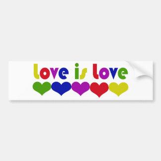 Liebe ist Liebe-homosexuelle Rechte Autoaufkleber