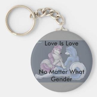Liebe ist Liebe homosexuelles Pelzkeychain Standard Runder Schlüsselanhänger