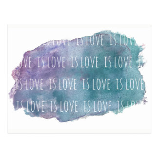 Liebe ist Liebe ist Liebepostkarte Postkarte