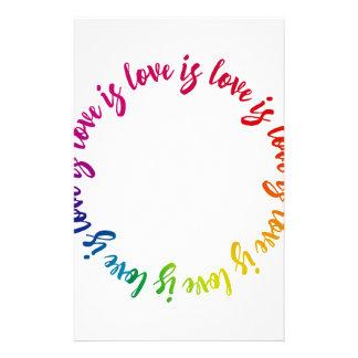 Liebe ist Liebe ist Lieberegenbogenkreis Briefpapier