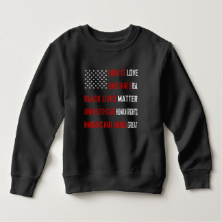 Liebe ist Liebe-Kleinkind-Dunkelheits-Sweatshirt Sweatshirt