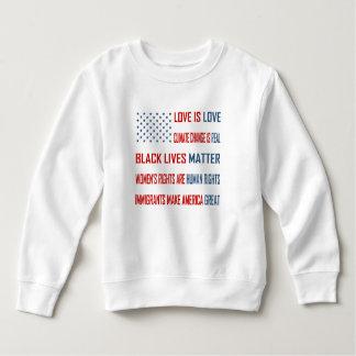 Liebe ist Liebe-Kleinkind-Sweatshirt Sweatshirt