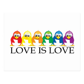Liebe ist Liebe: Pinguine Postkarte