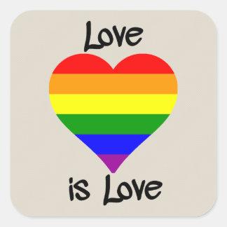 Liebe ist Liebe Quadratischer Aufkleber
