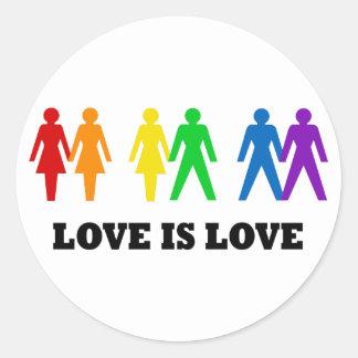 Liebe ist Liebe Runder Aufkleber