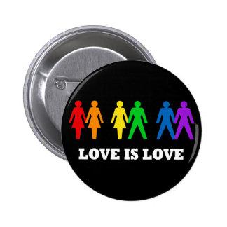 Liebe ist Liebe Runder Button 5,7 Cm