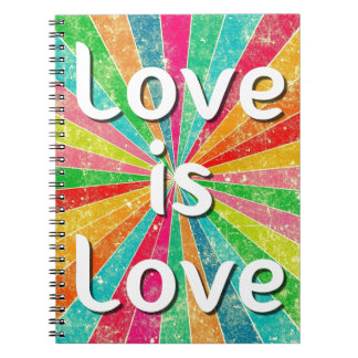 Liebe ist Liebe Spiral Notizblock