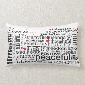 Liebe ist Liebe, Wort-Angelegenheit Lendenkissen