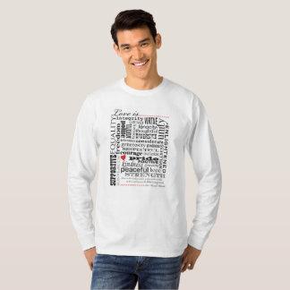 Liebe ist Liebe, Wort-Angelegenheit T-Shirt