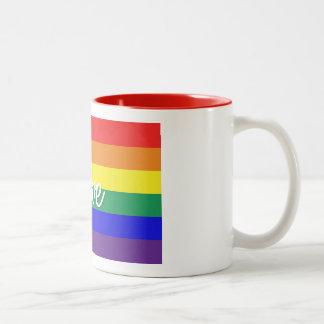 Liebe ist Liebe Zweifarbige Tasse